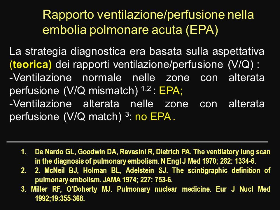 Rapporto ventilazione/perfusione nella embolia polmonare acuta (EPA)
