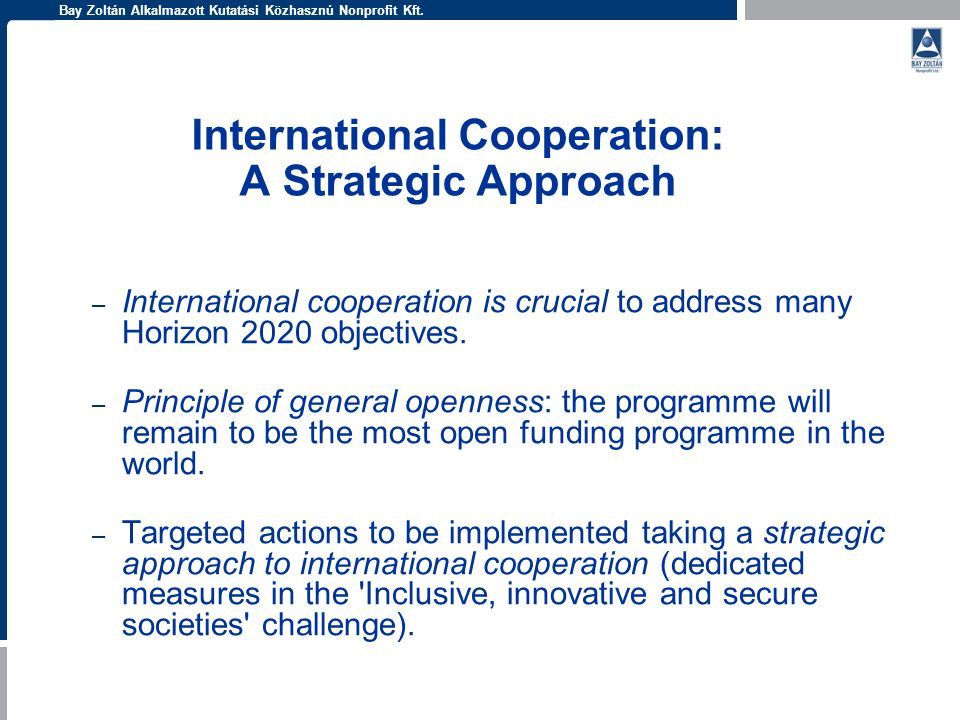 International Cooperation: A Strategic Approach