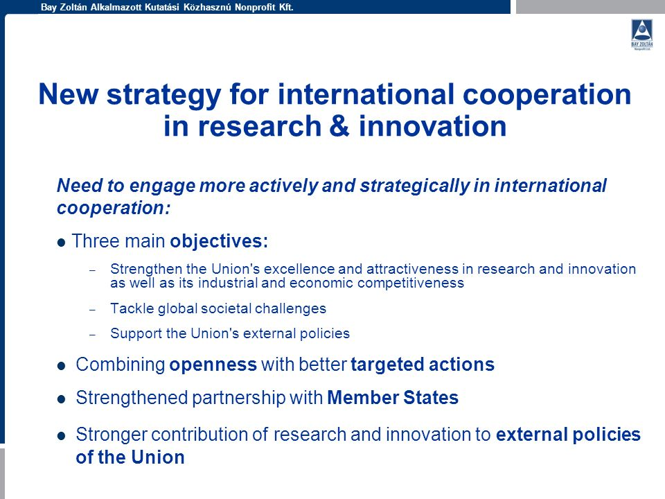 New strategy for international cooperation in research & innovation
