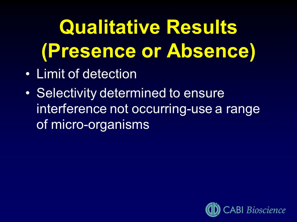 Qualitative Results (Presence or Absence)
