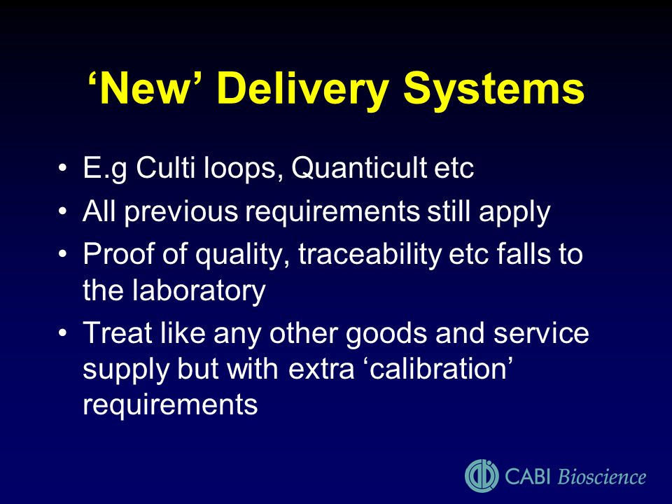 'New' Delivery Systems