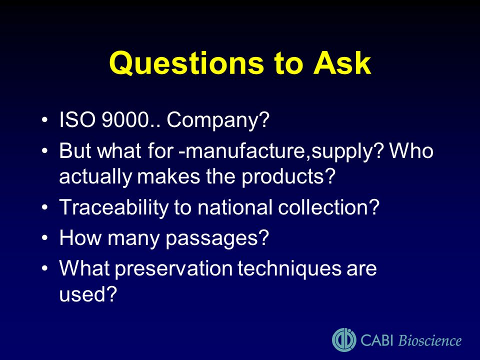 Questions to Ask ISO 9000.. Company