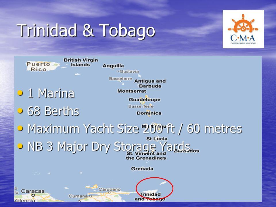 Trinidad & Tobago 1 Marina 68 Berths