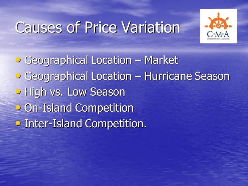 Causes of Price Variation