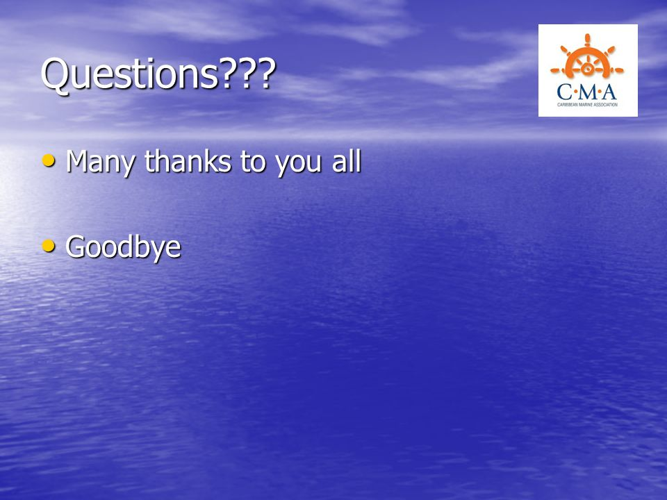 Questions Many thanks to you all Goodbye