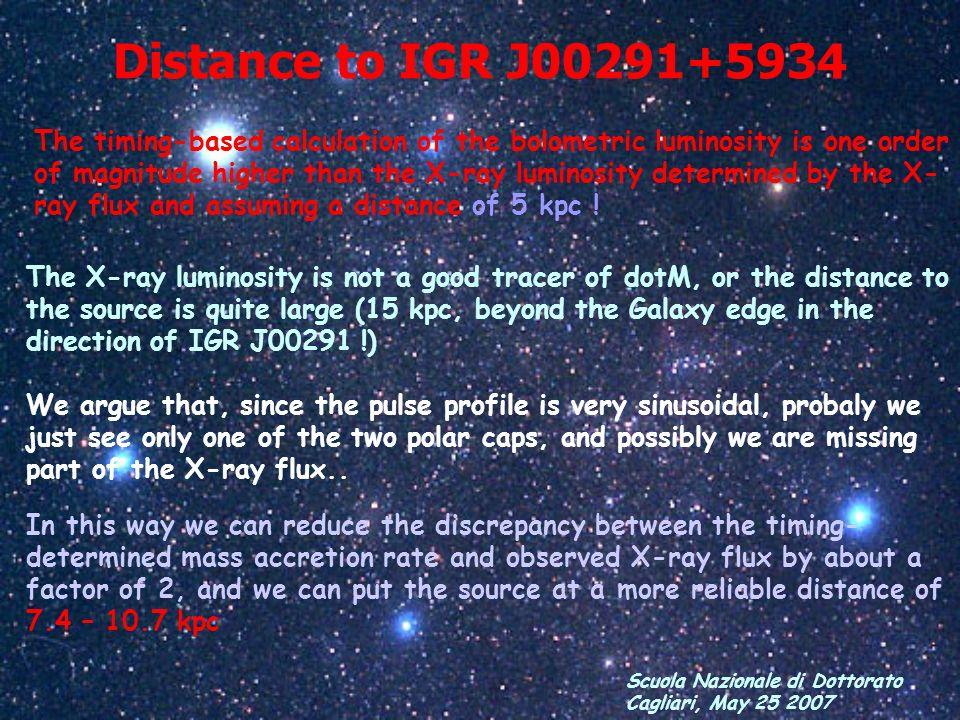 Distance to IGR J00291+5934