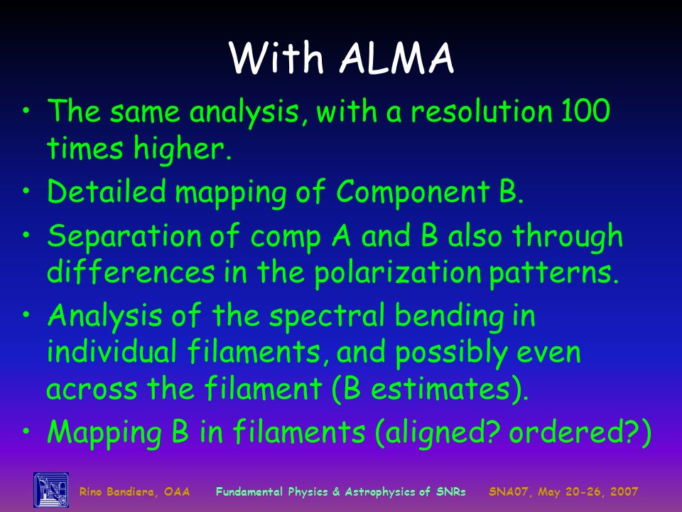 With ALMA The same analysis, with a resolution 100 times higher.