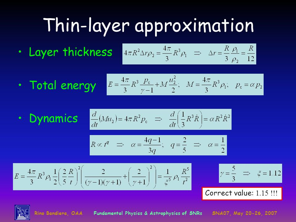 Thin-layer approximation
