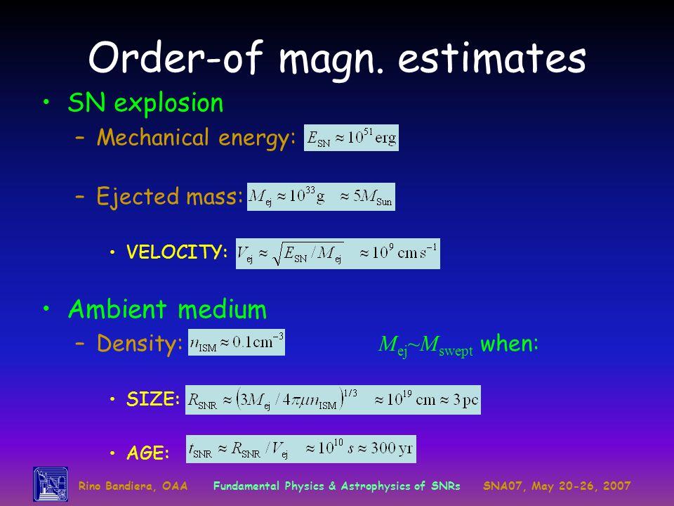 Order-of magn. estimates