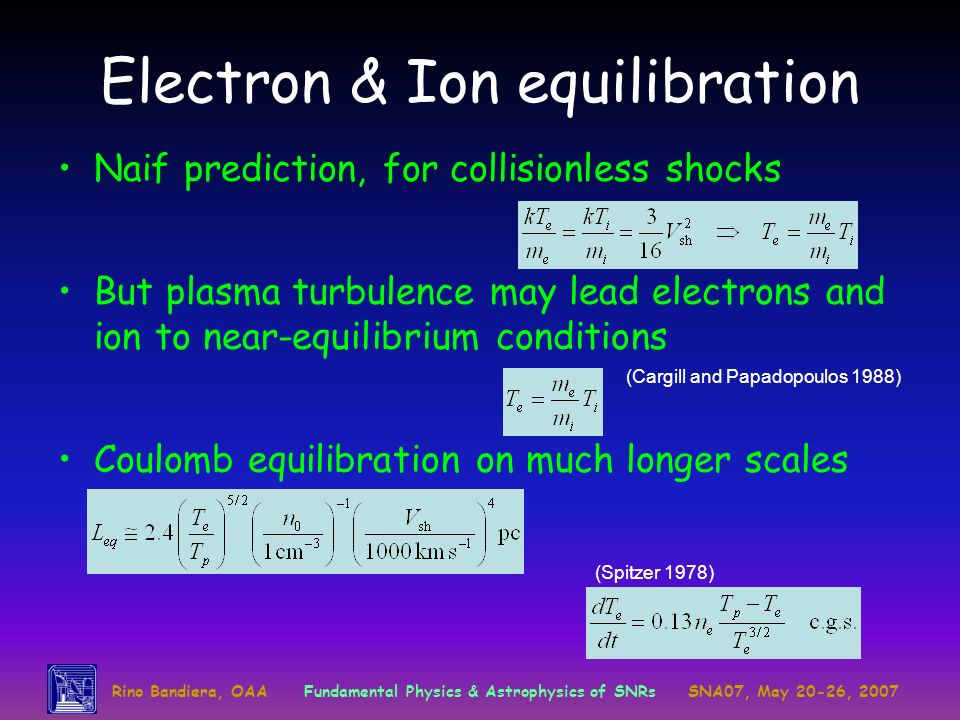 Electron & Ion equilibration