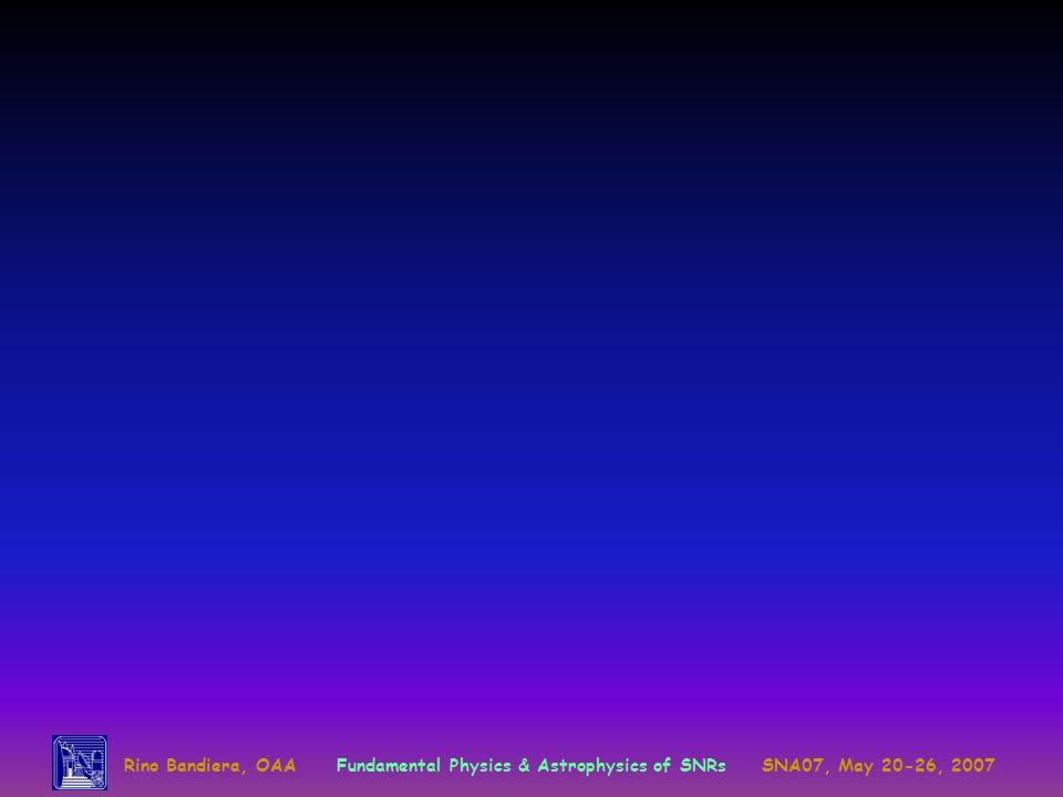 Rino Bandiera, OAA. Fundamental Physics & Astrophysics of SNRs