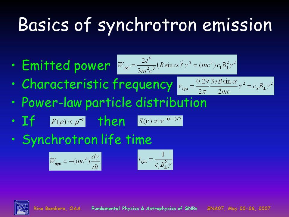 Basics of synchrotron emission