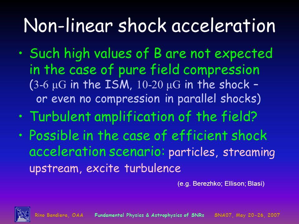 Non-linear shock acceleration