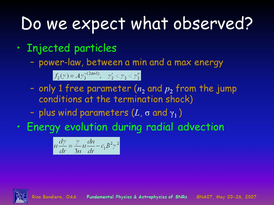 Do we expect what observed