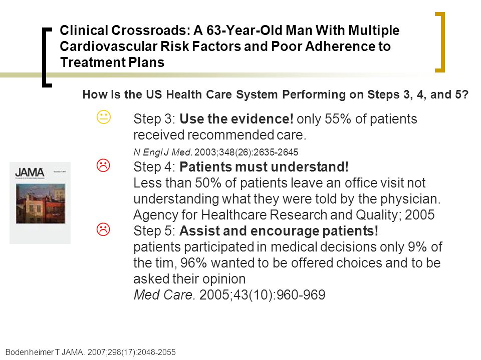 Clinical Crossroads: A 63-Year-Old Man With Multiple Cardiovascular Risk Factors and Poor Adherence to Treatment Plans