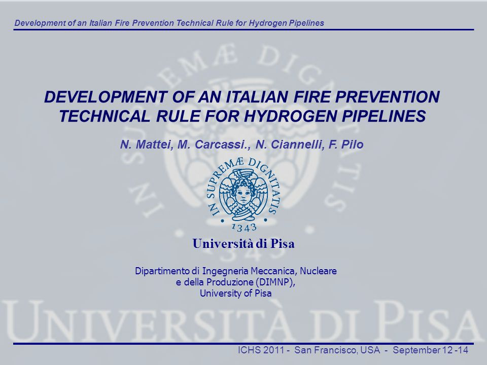 DEVELOPMENT OF AN ITALIAN FIRE PREVENTION