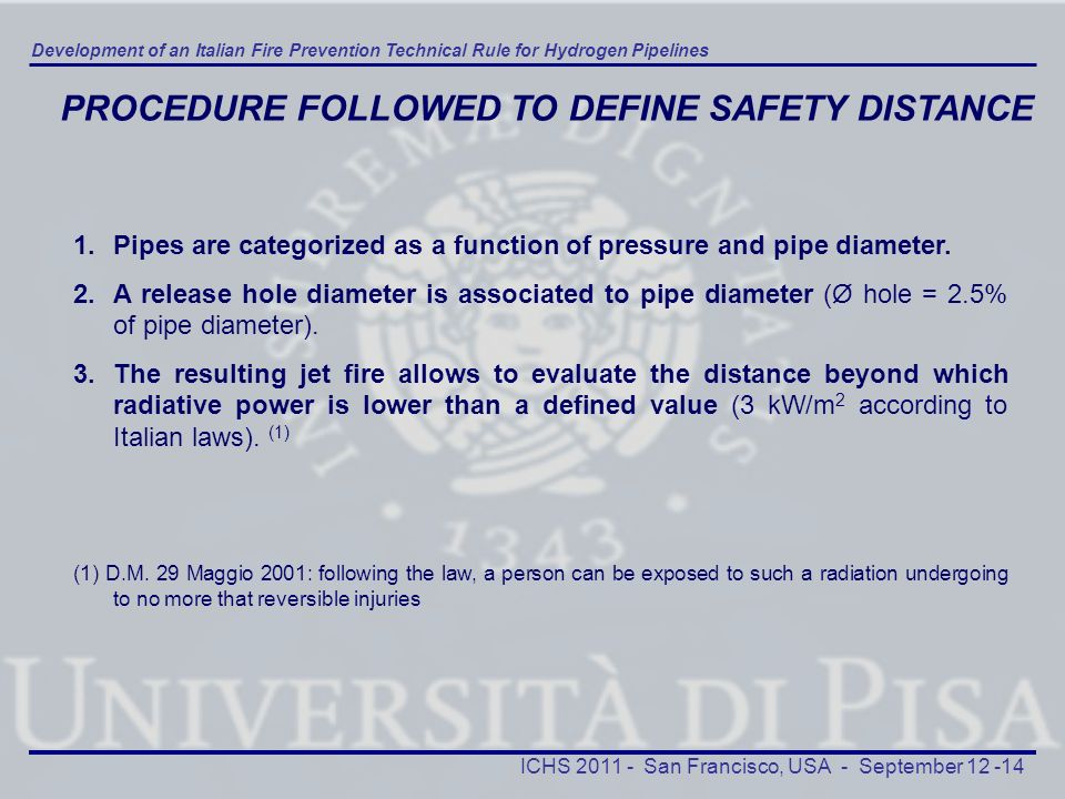 PROCEDURE FOLLOWED TO DEFINE SAFETY DISTANCE