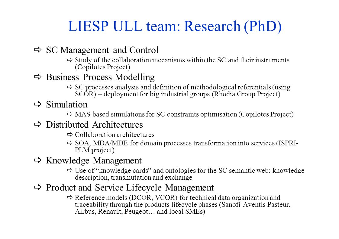 LIESP ULL team: Research (PhD)