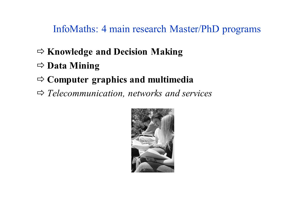InfoMaths: 4 main research Master/PhD programs