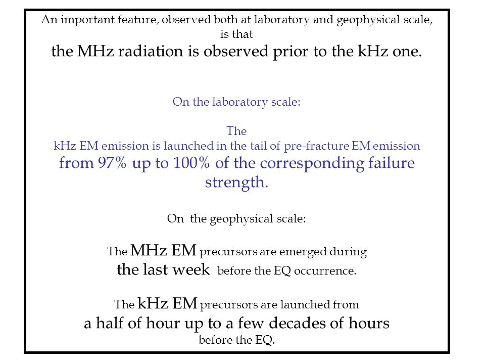 the MHz radiation is observed prior to the kHz one.