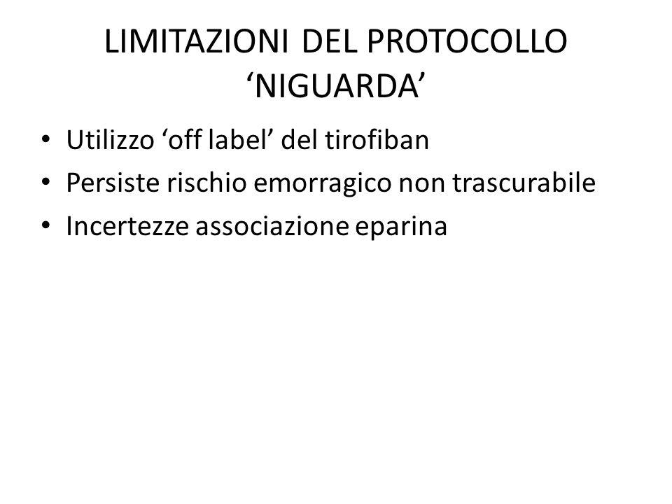 LIMITAZIONI DEL PROTOCOLLO 'NIGUARDA'
