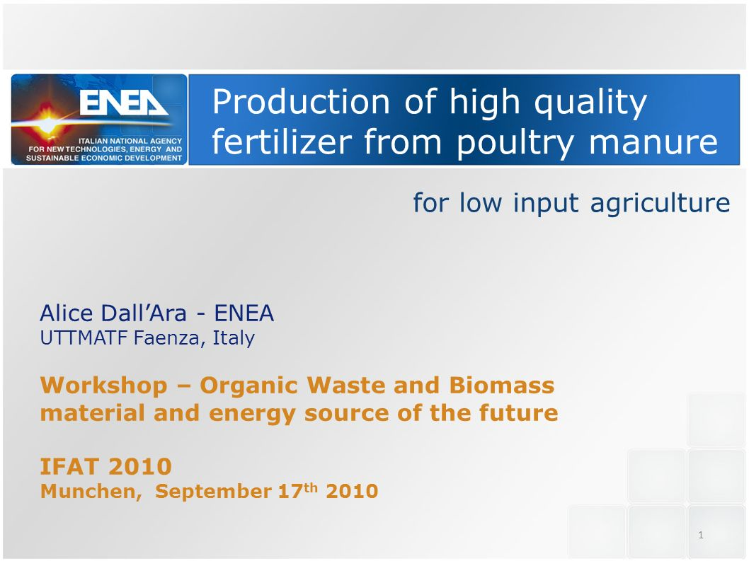 Production of high quality fertilizer from poultry manure