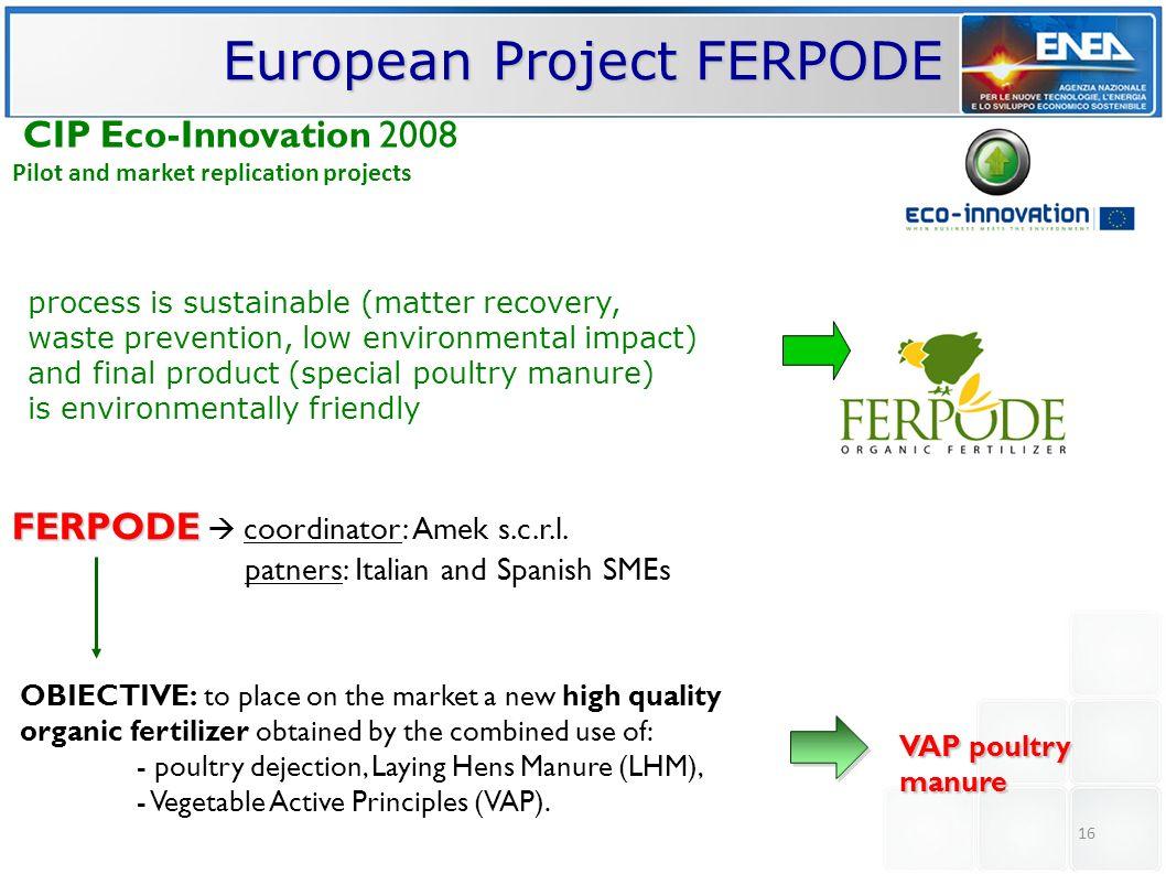 European Project FERPODE
