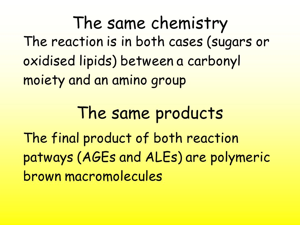 The same chemistry The same products