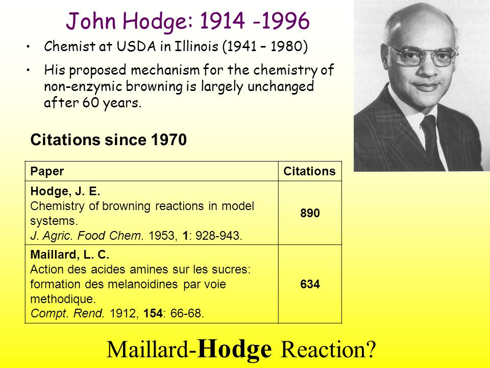 Maillard-Hodge Reaction