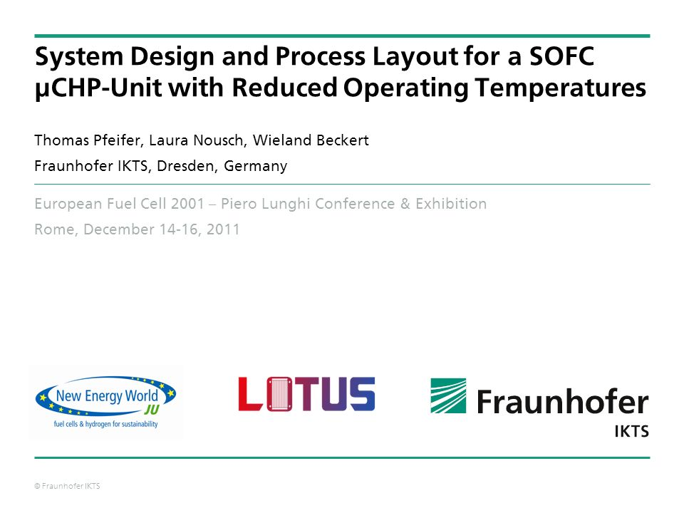 System Design and Process Layout for a SOFC µCHP-Unit with Reduced Operating Temperatures