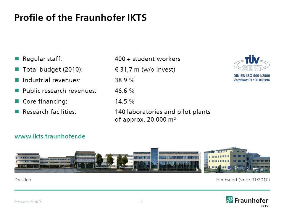Profile of the Fraunhofer IKTS