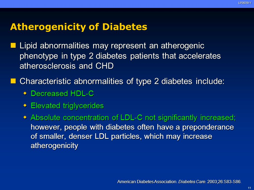Atherogenicity of Diabetes