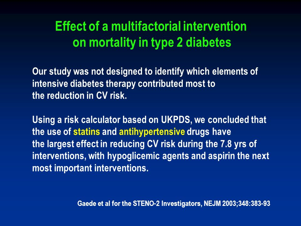 Effect of a multifactorial intervention