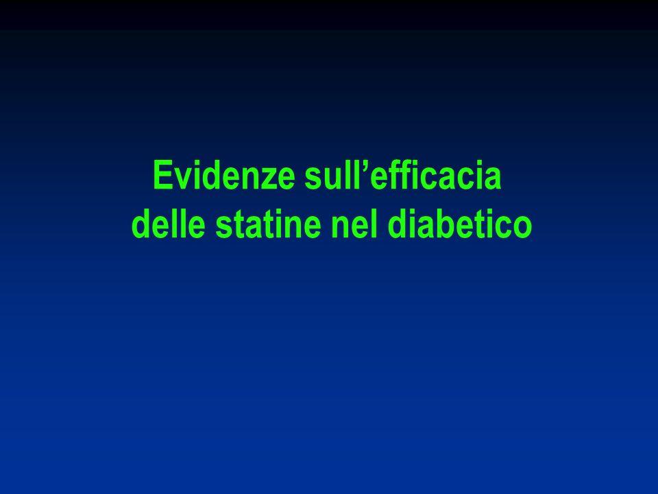 Evidenze sull'efficacia delle statine nel diabetico