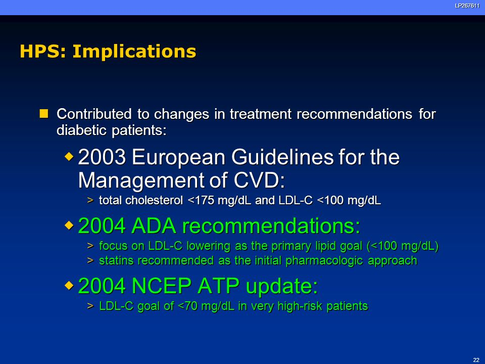 2003 European Guidelines for the Management of CVD: