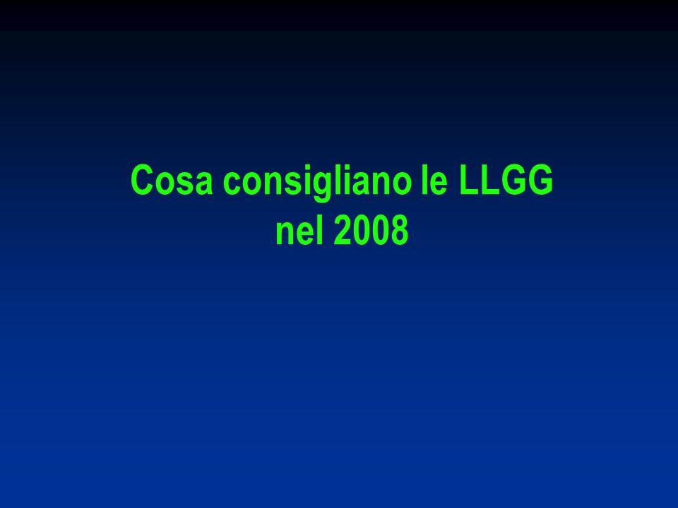 Cosa consigliano le LLGG