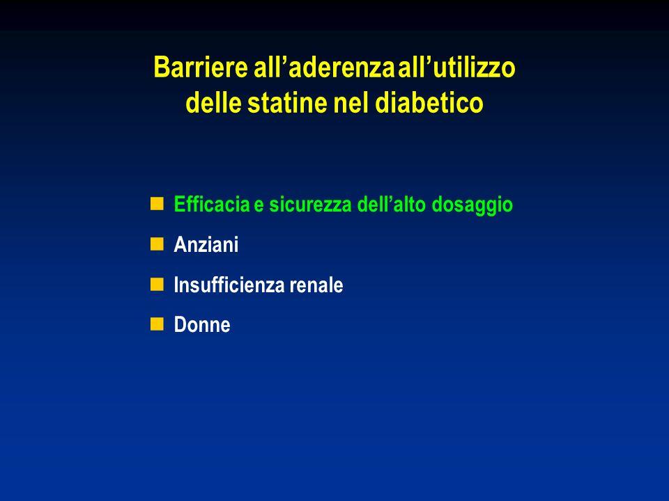 Barriere all'aderenza all'utilizzo delle statine nel diabetico