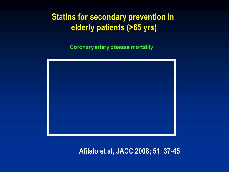Statins for secondary prevention in elderly patients (>65 yrs)
