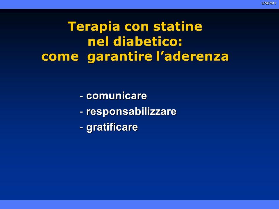 Terapia con statine nel diabetico: come garantire l'aderenza