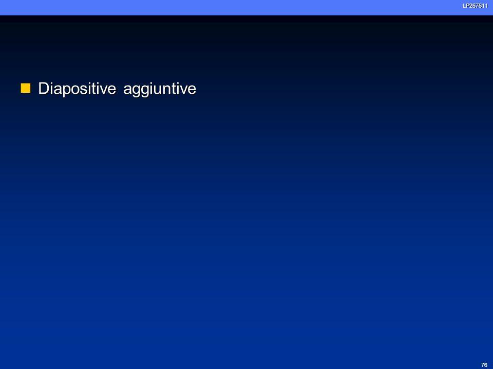 Diapositive aggiuntive