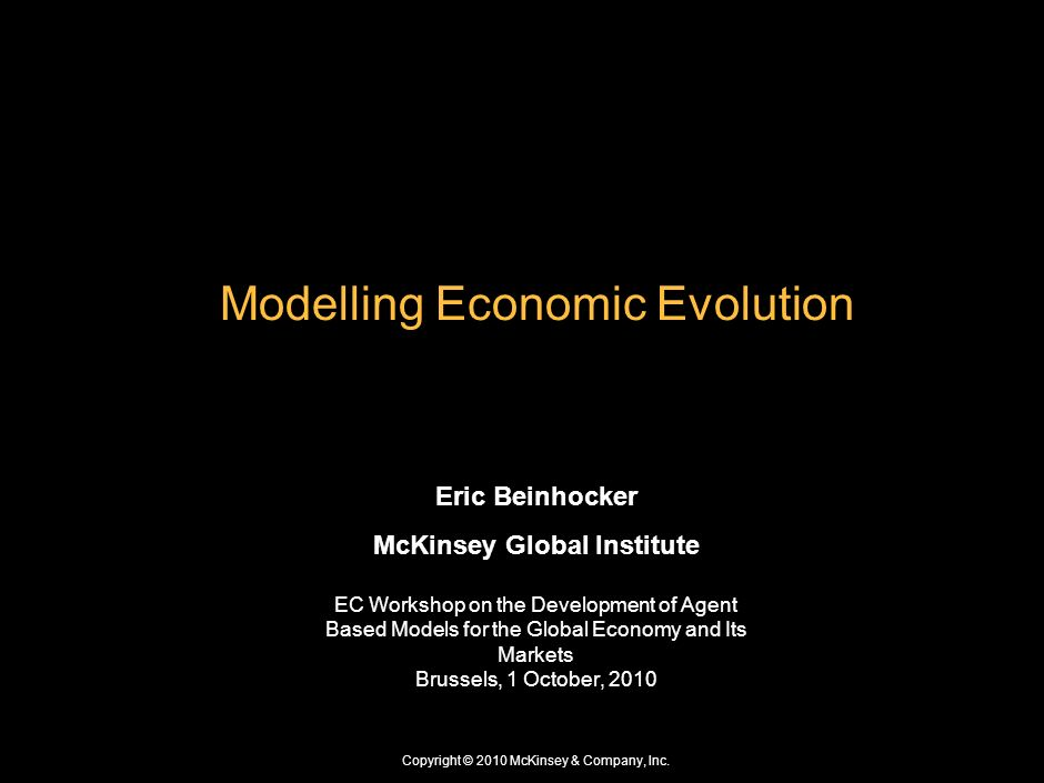 Modelling Economic Evolution