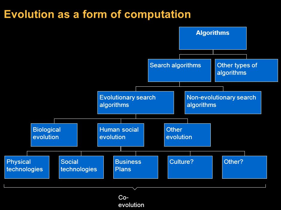 Evolution as a form of computation