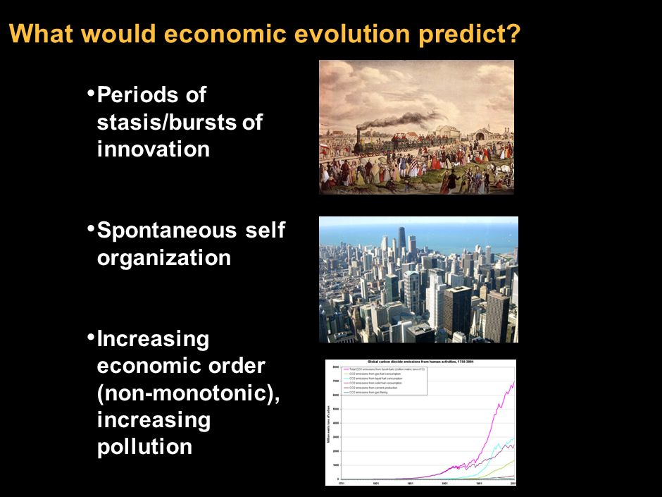 What would economic evolution predict