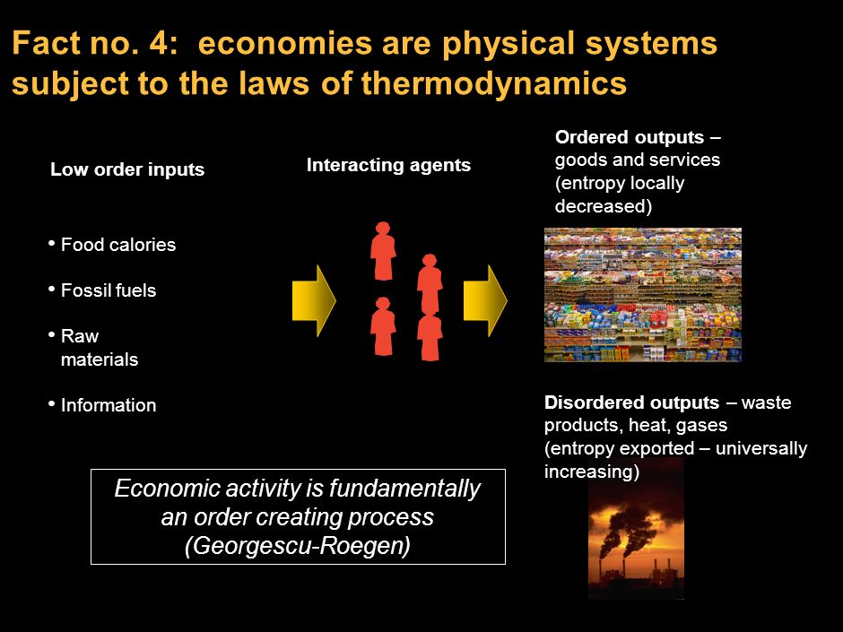 LOX-ZYJ SGEB-P1 Fact no. 4: economies are physical systems subject to the laws of thermodynamics.