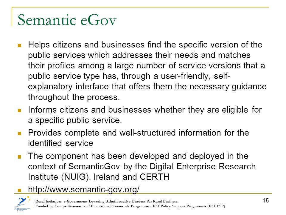 Semantic eGov