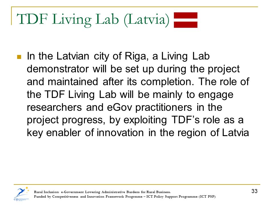 TDF Living Lab (Latvia)