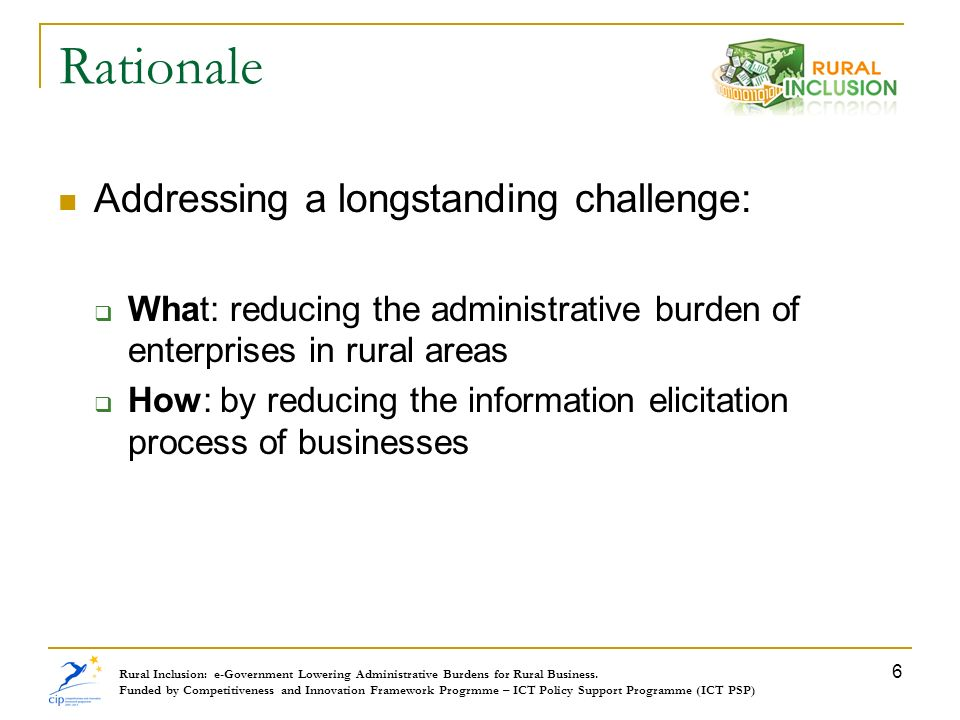 Rationale Addressing a longstanding challenge: