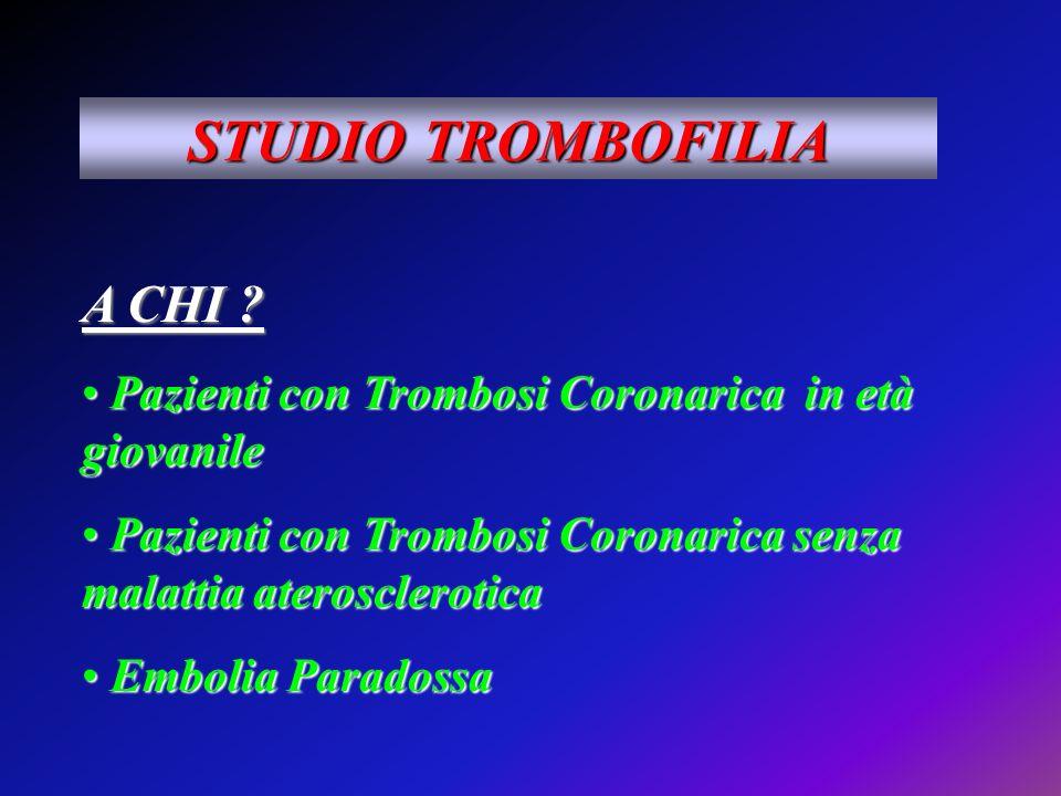 STUDIO TROMBOFILIA A CHI