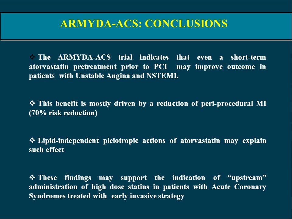 ARMYDA-ACS: CONCLUSIONS
