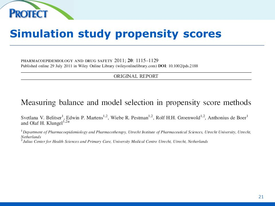 Simulation study propensity scores